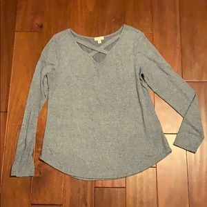 Charming Charlie pale blue top size medium